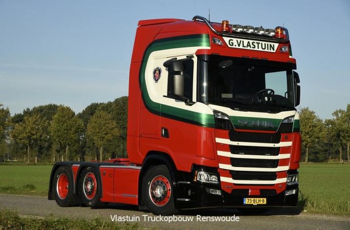 Scania S520 voor Vlastuin Transport Renswoude