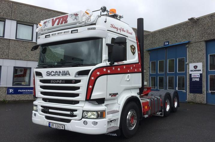Scania R730 voor VTP Anlegg Og Transport AS (NO)