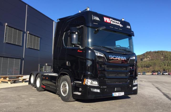 Scania R730 Nextgen voor Finnøy Betong as (NO)