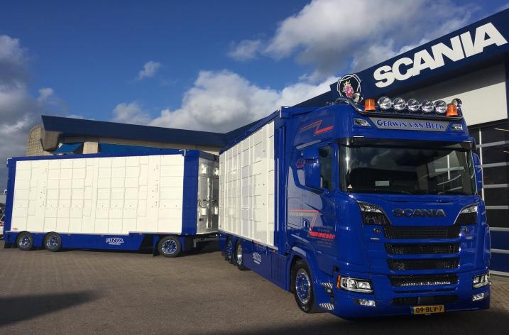 Scania S650 combinatie voor Gerwin van Beek