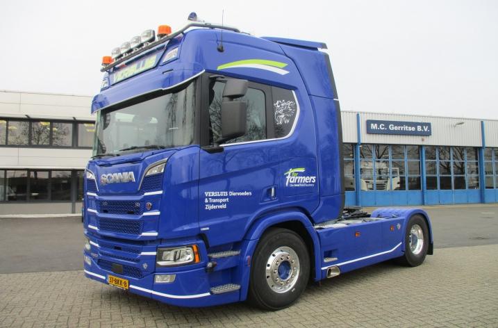Scania R520 voor Versluis Diervoeders en Transport