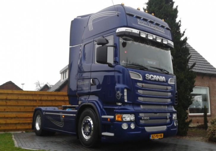 Wonderbaarlijk V8Power.nl - Scania R500 voor Bram Verschoor EN-45